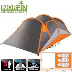 Трёхместаня палатка Norfin Helin 3 Alu